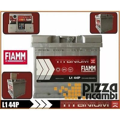 BATTERIA RENAULT KANGOO 1.2 16V 75CV 01> FIAMM 44Ah L144P E7B
