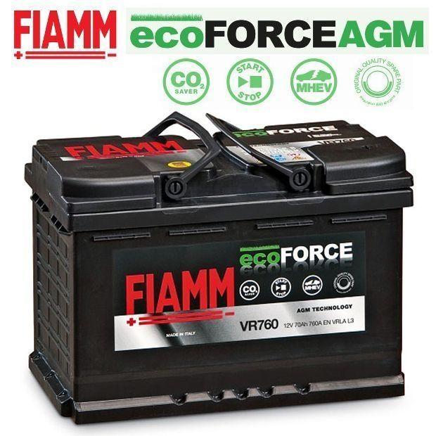 BATTERIA PEUGEOT 208 308 508 607 HDI FIAMM VR760 AGM START & STOP 70Ah 760A