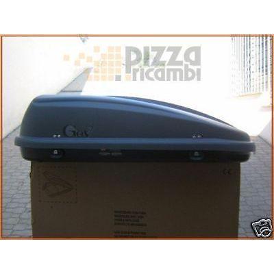 *IR24*BAULE BOX CARBOX TETTO grigio 420 LT 145X94X39 GEV