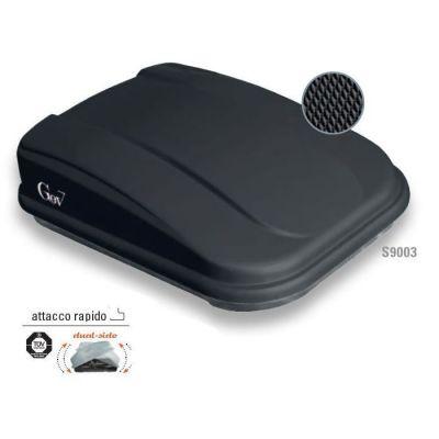 BAULE BOX AUTO PROBOX GEV CARBOX NERO OPACO Lt. 420 145X94X39