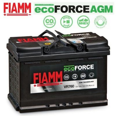 BATTERIA BMW SERIE 1 2 3 X1 Z4 FIAMM VR760 ecoFORCE AGM START & STOP 70Ah 760A