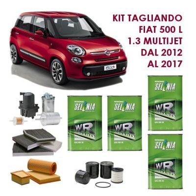KIT TAGLIANDO FIAT 500 L 1.3 MULTIJET 85CV DAL 2012 AL 2017 COD. MOTORE 199B4000