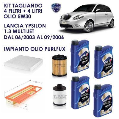 KIT TAGLIANDO LANCIA YPSILON 1.3 MULTIJET 2003 - 2006 188A9000 IMPIANTO PURFLUX
