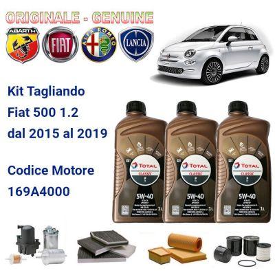 KIT TAGLIANDO 3 FILTRI+OLIO ORIGINALE FIAT 500 1.2 2015-2019 COD. MOT. 169A4000