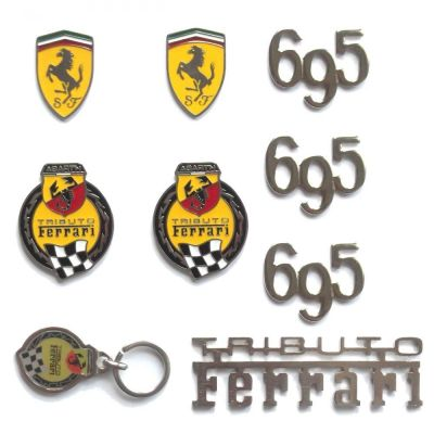 *FRP* KIT FREGI BADGE FIAT 500 ABARTH 695 TRIBUTO FERRARI logo tribute homenaje